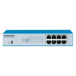 APRESIA Systems ApresiaLightGB108-SS【5年間無償保証付き(先出しセンドバック他)】レイヤー2スイッチングHUB (FANレス/50℃耐熱) - 拡大画像