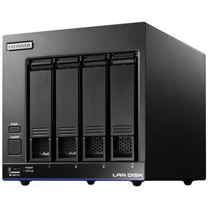 アイ・オー・データ機器 高性能CPU&NAS用HDD「WD Red」搭載 長期3年保証 中規模オフィス向け4ドライブビジネスNAS「LAN DISK X」 4TB 便利な引っ越し機能付