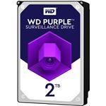 WESTERN DIGITAL WD Purpleシリーズ 3.5インチ内蔵HDD 2TB SATA6Gb/sIntellipower 64MBキャッシュ AF対応