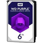 WESTERN DIGITAL WD Purpleシリーズ 3.5インチ内蔵HDD 6TB SATA6Gb/sIntellipower 64MBキャッシュ AF対応