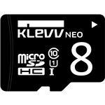 ESSENCORE KLevv microSDHCメモリーカード 8GB Class10 UHS-I U1 SDアダプター付