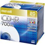Maxell データ用 CD-R 700MB 48倍速 プリンタブルホワイト 20枚パック