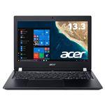 Acer TMX3310M-F34QB6 (Core i3-8130U/4GB/128GBSSD/ドライブなし/13.3型/HD/指紋認証/Windows 10 Pro 64bit/LAN/HDMI/1年保証/OfficeHome&Business 2016)