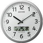 リズム時計 電波掛け時計 プログラムチャイム付 プログラムカレンダー01R