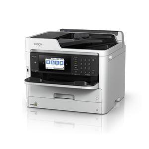 エプソン A4カラービジネスインクジェット複合機/カラー・モノクロ約34PPM/Wi-Fi5GHz対応/4.3型タッチパネル - 拡大画像