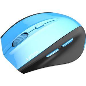 6ボタン DPIボタン/インターネットボタン付き ワイヤレスマウス IM618GBL ブルー - 拡大画像