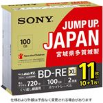 SONY 日本製 ビデオ用BD-RE XL 書換型 片面3層100GB 2倍速 ホワイトワイドプリンタブル11枚パック