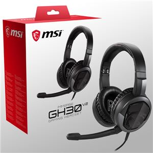 MSI IMMERSE GH30 GAMING HEADSET V2 / 3.5mm jacksplitter cable イヤホン&マイク端子接続 IMMERSE GH30 V2 - 拡大画像