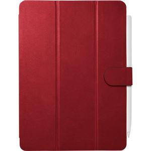 バッファロー iPad Pro 11インチ用3アングルレザーケース レッド BSIPD2011CL3RD - 拡大画像