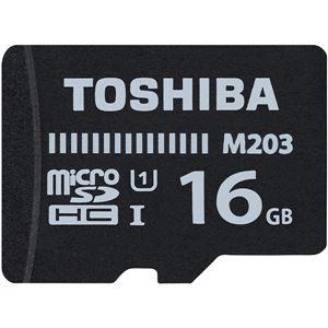 東芝 UHS-I対応 Class10 microSDHCメモリカード 16GB MU-J016GX - 拡大画像