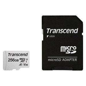 トランセンドジャパン 256GB microSDXCカード w/adapter UHS-I U3 A1 TS256GUSD300S-A - 拡大画像