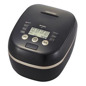 タイガー魔法瓶 土鍋圧力IH炊飯器  炊きたて  5.5合 ブラック JPH-G100K - 拡大画像