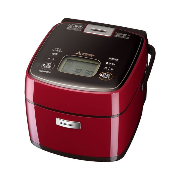 三菱電機 IHジャー炊飯器 備長炭 炭炊釜 小容量 ミラノレッド NJ-SEA06-R