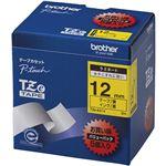 ブラザー工業 TZeテープ ラミネートテープ(黄地/黒字) 12mm 5本パック TZe-631V