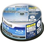 Maxell データ用ブルーレイディスク BD-R 25GB 「PLAIN STYLE」 (1〜4倍速対応)インクジェットプリンター対応 (30枚スピンドル) BR25PPLWPB.30SP