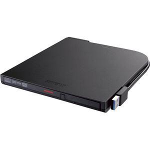 バッファロー USB3.1(Gen1)ポータブルDVDドライブ 再生・書込みソフト添付 DVSM-PTS8U3-BKA - 拡大画像