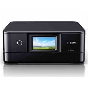 エプソン A4カラーインクジェット複合機/Colorio/6色/無線LAN/Wi-FiDirect/両面/4.3型ワイドタッチパネル/ブラック EP-883AB - 拡大画像