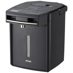 タイガー魔法瓶 蒸気レスVE電気まほうびん とく子さん 2.2L ブラック PIM-G220K - 拡大画像