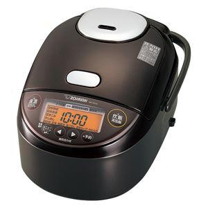 象印マホービン 圧力IH炊飯ジャー 5.5合炊き ダークブラウン NP-ZU10-TD - 拡大画像