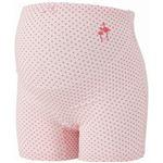 ムレにくい妊婦帯パンツ クールプラス ドット(ベルトイン) M-L ピンク 6510125