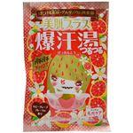 (まとめ買い)爆汗湯 ゲルマニウム快音浴 美肌プラス ルビーグレープフルーツの香り(入浴剤)×12個セット×2セット