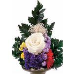 プリザーブド仏花 洋彩 高さ約25cm