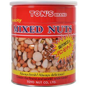 (まとめ買い)TON'S スナッキーミックスナッツ缶 650g×6セット - 拡大画像