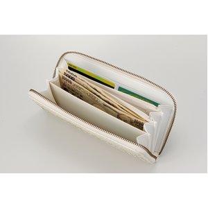 白蛇 ファスナー付き長財布