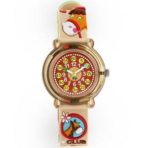 子供用腕時計 ベビーウォッチ ジップザップ 乗馬(ブラウン)  - 拡大画像