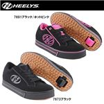 hys-004 【HEELYS/ヒーリーズ】ローラーシューズ WAVE ウェーブ 7691 ブラック/ホットピンク 23cm