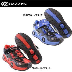 hys-010 【HEELYS/ヒーリーズ】ローラーシューズ SPIN スピン 7903 レッド/ブラック 18cm - 拡大画像