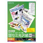 (まとめ) コクヨ カラーレーザー&カラーコピー用紙 両面セミ光沢 中厚口 B4 LBP-FH2800 1冊(100枚) 【×2セット】