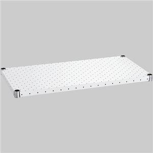 (まとめ) エレクター パンチングシェルフ W450×D350mm ホワイト H1418PW1 1枚 【×2セット】