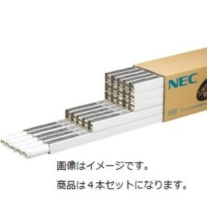 NEC 防災用残光蛍光ランプ 飛散防止タイプ 直管ラピッドスタート形 40W形 白色 FLR40SWMPボウサイ/4K-L 1パック(4本) - 拡大画像