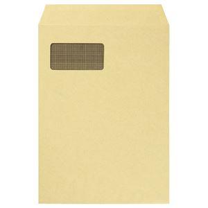 (まとめ) TANOSEE 窓付クラフト封筒 A4 裏地紋付 85g/m2 1パック(100枚) 【×2セット】