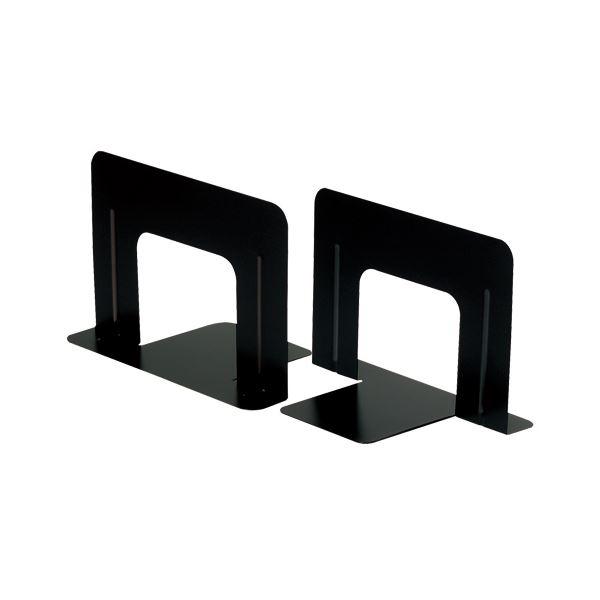 (まとめ) TANOSEE ブックエンド T型 ワイド ブラック 1セット(10枚:2枚×5組) 【×2セット】