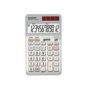 【訳あり・在庫処分】 シャープ SHARP 実務電卓 12桁 ナイスサイズタイプ EL-N942-CX 1台 - 拡大画像