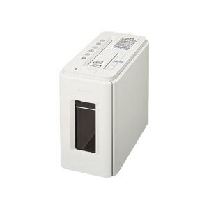 コクヨ デスクサイドマルチシュレッダー(Silent-Duo) A4 クロスカット ノーブルホワイト KPS-MX100W 1台 - 拡大画像