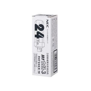 (まとめ)FHT24EX-Nキキ コンパクト蛍光灯(カプル3) 24W形 昼白色 10個入 - 拡大画像