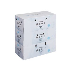 (まとめ)ネピア鼻セレブボックスティシュー 200組 3箱入×10パック - 拡大画像
