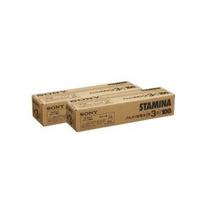(まとめ)アルカリ乾電池「STAMINA」 単3形 100本入×2パック - 拡大画像