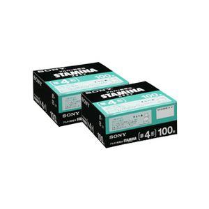(まとめ)アルカリ乾電池「STAMINA」 単4形 100本入×2パック - 拡大画像