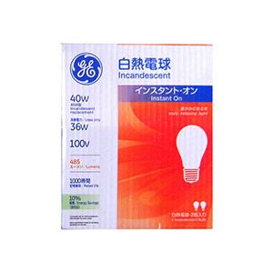 (まとめ)白熱電球 40W形 2個入×12パック - 拡大画像