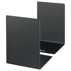 (まとめ) TANOSEE ブックエンド L型 大 ブラック 1組(2枚) 【×5セット】