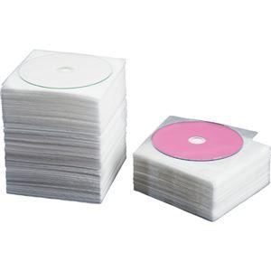 (まとめ) TANOSEE CD・DVD不織布ケース 片面1枚収納 1パック(100枚) 【×10セット】