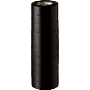 (まとめ) オカモト ビニールテープ No.470 19mm×10m 黒 No.470-19x10 クロ 1パック(10巻) 【×10セット】 - 拡大画像