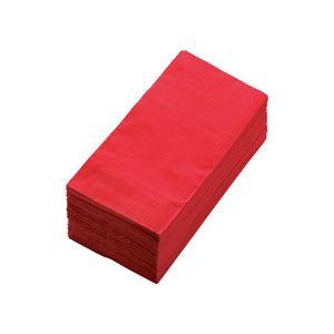 (まとめ) カラーナプキン 2PLY 8つ折 イタリアレッド 2PLU-28C-R 1パック(50枚) 【×10セット】 - 拡大画像