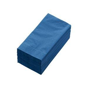 (まとめ) カラーナプキン 2PLY 8つ折 ネイビーブルー 2PLU-28C-N 1パック(50枚) 【×10セット】 - 拡大画像