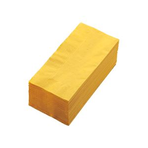 (まとめ) カラーナプキン 2PLY 8つ折 レモン 2PLU-28-L 1パック(50枚) 【×10セット】 - 拡大画像
