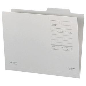 (まとめ) コクヨ 個別フォルダー(カラー・Fタイプ) A4 グレー A4-IFF-MX10 1パック(10冊) 【×5セット】 - 拡大画像